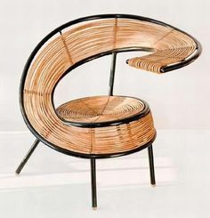 wicker chair by WŁADYSŁAW WOŁKOWSKI
