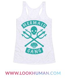 This feminist t shirt is perfect for all the mermaids in your feminist mermaid gang because this punk mermaid don't take shit from the patriarchy. This mermaid shirt is perfect for fans of mermaid shirts, feminist shirts, punk shirts and biker logos.