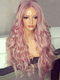 Center Parting Fluffy Long Wavy Synthetic Wig