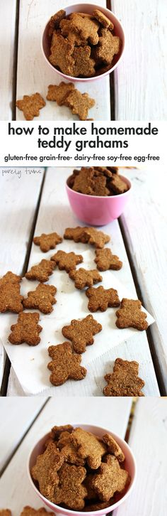 HOW TO MAKE HOMEMADE HEALTHY TEDDY GRAHAMS THAT YOU GREW UP WITH. These teddy grahams are grain-free gluten-free and vegan! Made from 7 simple ingredients. #healthysnack #homemadeteddygrahams #fitfluential #grainfreerecipes