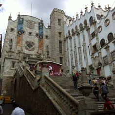 Guanajuato, Guanajuato. Escaleras de la Universidad