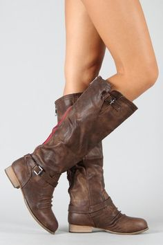 Slouchy Knee High Riding Boot $35.50...awesome website!!