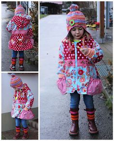 Cute patterns, and all her favorite colors!