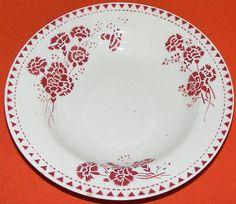 Assiette creuse ancienne en faïence Sarreguemines et Digoin ELISE décors chardon