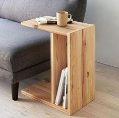 Beistelltisch aus Holzform für Wohnzimmer Arm Beistelltisch aus Holzform für Wohnzimmer Arm Sofa, 【楽天市場】「木製【ミニ】ナイトテーブル」  サイドテーブル ミニテーブル 石崎家具:スリーピー楽天市場店 7 Creative Chairs All Book Lovers Will Appreciate Diy Furniture Projects, Diy Wood Projects, Plywood Furniture, Pallet Furniture, Rustic Furniture, Furniture Design, Small House Furniture, Furniture Stores, Antique Furniture
