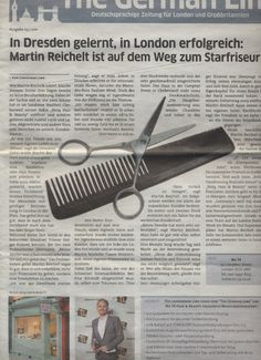 Salon opening makes the news in The German Link - the newspaper for German speakers in London