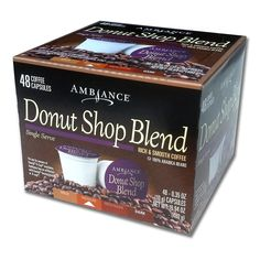 48 Ambiance K-Cup DONUT SHOP Keurig Capsules - 100% Arabica beans >>> Check this awesome product by going to the link at the image.