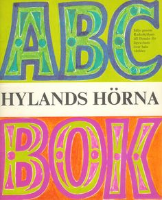 "ABC-book from Swedish 60's TV show ""Hylands Hörna"""