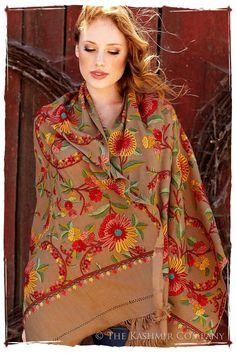 Tournesol de la Terre Renoirs Dream Shawl — Seasons by The Kashmir Company  $708.00