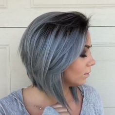 Silver Shadow... by @elonataki #silverhair #grannygrey #btcquickie #behindthechair