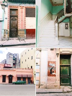 cuban architecture. / sfgirlbybay | love the soft pastel colours