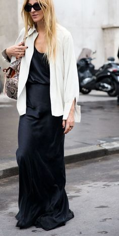 black maxi dress #style #minimal