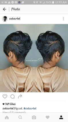 Love the cut!!!! #straighthairstylesshort Short Black Hairstyles, Straight Hairstyles, Cut Hairstyles, Love Hair, Gorgeous Hair, Beautiful, Hair Hacks, Her Hair, Hair And Nails