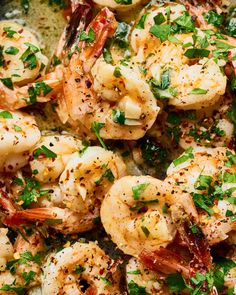 Recipe: Easy Garlic Butter Shrimp — Recipes from The Kitchn Buttered Shrimp Recipe, Garlic Butter Shrimp, Shrimp Recipes, Fish Recipes, Recipies, Copycat Recipes, Clean Eating Snacks, Healthy Eating, Easy Skillet Meals