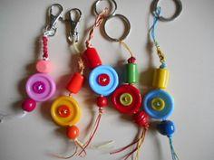 Porte clé ou grigri original, lot de 5 porte clés pour le sac ou vos clés : Porte clés par mary-lune-brode
