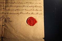 18th century paper and wax seal...perhaps a long lost secret love letter...
