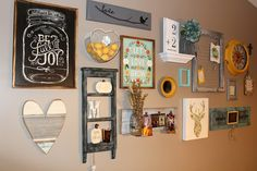 to Build a Gallery Wall - Gallery Wall Ideas and Tips Gallery Wall Inspiration by Ellery Designs for Barn Owl PrimitivesEllery (surname) Ellery is a surname, and may refer to: People: Diy Home Decor Rustic, Farmhouse Decor, Farmhouse Style, Rustic Gallery Wall, Gallery Walls, Kitchen Gallery Wall, Wall Clock For Kitchen, Living Room Gallery Wall, Inspiration Wand