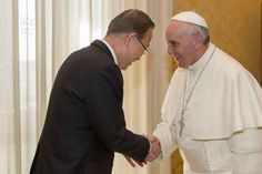 At the Vatican on Tuesday, Secretary-General Ban Ki-moon and Pope Francis discussed ending poverty, accelerating progress to reach the UN Millennium Development Goals and more.    More about the visit here: http://j.mp/10QSUxD    See behind-the-scenes video here: http://j.mp/10QJi65
