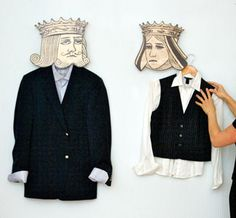 King & Queen hangers -- made me laugh!