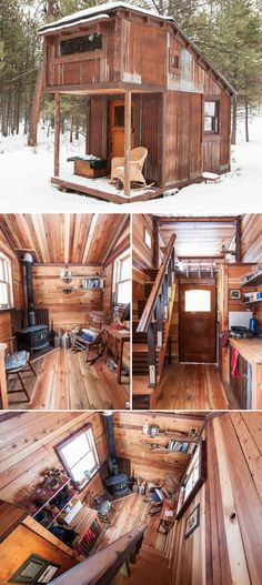 Decorative Rocks Ideas : Absolutely amazing how small this place is yet how perfect it looks. Decorative Rocks Ideas : Absolutely amazing how small this place is yet how perfect it looks. Tiny Cabins, Tiny House Cabin, Tiny House Living, Tiny House Design, Cabin Homes, Small House Plans, Cabin Design, Living Room, Casas Containers