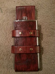 Renaissance Faire Leather Flask Holder 22