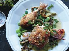 Braised Chicken with Artichokes and Fava Beans - Bon Appétit
