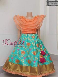 Frocks For Girls, Dresses Kids Girl, Girl Outfits, Lehenga For Girls, Kids Lehenga, Kids Dress Wear, Kids Gown, Girls Frock Design, Kids Frocks Design