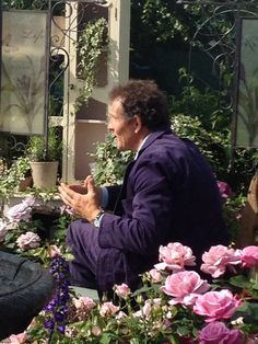 Monty Don at the Hampton Court Flower Show 2015