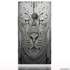 Coque rigide pour smart Phone Nokia Lumia 1520, design Tigre Azteque, conçu pour abriter le téléphone mobile Nokia des chocs et rayures. Conçue dans du polycarbonate rigide, matiere douce et resistante aux chutes. #Coque #nokia #lumia #1520 #phone #telephone #case #tigre #tiger #azteque