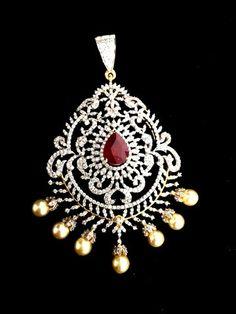 Diamond pendant and earrings southjewellery latest indian pendant set gold pendent diamond pendant pendant necklace indian diamond jewelry diamond jewellery gold models gold designs india jewelry diamond aloadofball Choice Image
