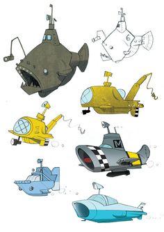 Gorillaz Submarines 2 By Adam Gale