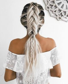 This grey unicorn braid is everything