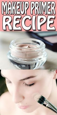 diy makeup primer recipe's only for you. stop using those chemical based primers… diy makeup primer recipe's only for you. stop using those chemical based primers and make your own all natural face primer at home in just 15 minutes. Belleza Diy, Tips Belleza, Diy Makeup Primer, Easy Diy Makeup, Diy Makeup Remover, Cheap Makeup, Make Up Primer, Diy Face Primer, Diy Makeup Organizer
