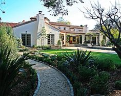 Mediterranean Front Walkway Landscaping Design, Pictures, Remodel, Decor and Ideas - page 3