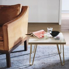 Marble and brass give this table a luxe and modern look.