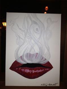 red lips, smoke, drawings, paintings, tattoo ideas