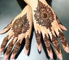 Henna by Jas. Design inspired by a picture selected by S. Henna by Jas. Design inspired by a picture selected by Satveer details unknown. Offering FREE c. Mehandi Designs, Wedding Henna Designs, Indian Henna Designs, Modern Mehndi Designs, Mehndi Design Photos, Mehndi Designs For Fingers, Dulhan Mehndi Designs, Henna Tattoo Designs, Arabian Mehndi Design