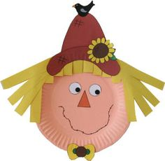 Paperplate scarecrow....a MUST for my kiddos!