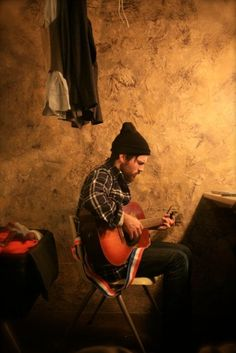 A great moment in life captured. A man and his guitar. Scott Avett