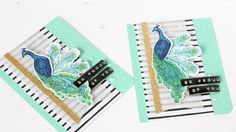 Peacock Layering  - Tips For Color Layering Stamp Sets