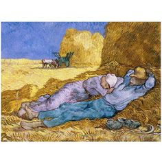 Trademark Fine Art Siesta, After Mille, 1890 inch Canvas Art by Vincent van Gogh, Size: 18 x 24, Multicolor