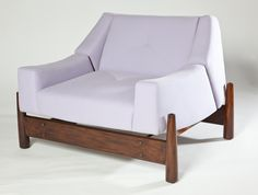 60's Percival Lafer Club Chair COUNTRY: Brazil DATE OF MANUFACTURE: 1960's MATERIALS: Imbuya wood HEIGHT: 27 in. (69 cm) WIDTH: 31.5 in. (80 cm) DEPTH: 39 in. (99 cm)
