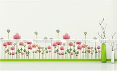 Beautiful Lotus Flowers and lotus seeds Wall sticker Wall Sticker