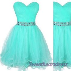 Short prom dress 2016, cute green tulle prom dress for teens #coniefox #2016prom