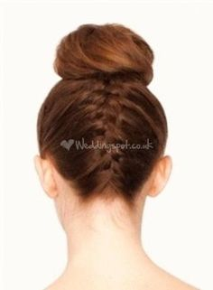 French plait brown hair from Lush Brides - Wedding Hair by Lauren