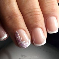 french nail designs 25 Beautiful French Nail Art Designs For You / Orderly Cutie Art French Acrylic Nails, French Manicure Nails, French Nail Art, French Nail Designs, French Tip Nails, Best Nail Art Designs, Manicures, Short French Nails, Cute Nails