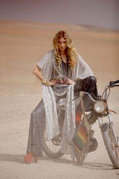 scarves, bike and desert