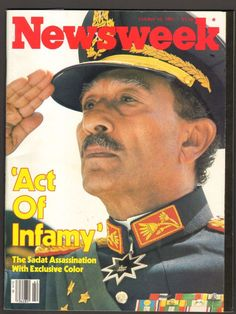 Newsweek Magazine October 19 1981 Act of Infamy The Sadat Assassination Political Opinion, Political Art, Politics, Newspaper Headlines, October 19, Vintage Magazines, Passed Away, Cover Pages, Assassin