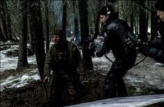 The Revenant Movie · Two great talents, working together while making TheRevenantBluRay The Revenant Movie, John Fitzgerald, Tom Hardy, Good Looking Men, Cinematography, A Good Man, Behind The Scenes, Toms