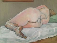 Oil Sketch - Jules reclining in a green room
